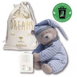 Doodoo grey striped bear + Spare plush toy