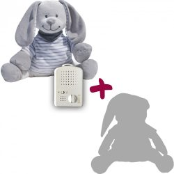 Doodoo grey-white striped bunny + Spare plush toy