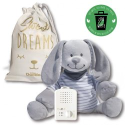 Doodoo grey-white striped bunny spare plush toy