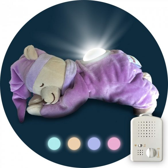 Purple Doodoo bear with lamp + spare plush