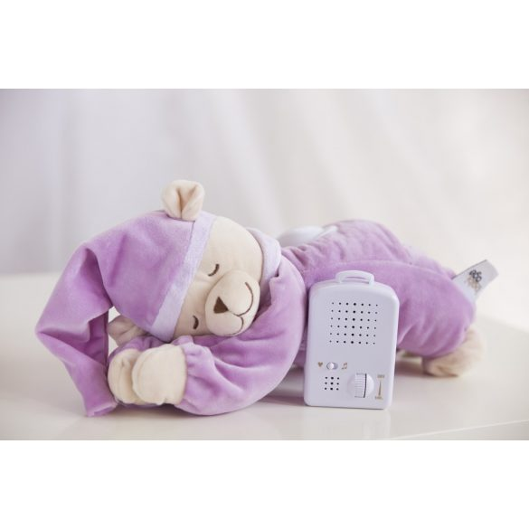 Doodoo purple bear with lamp