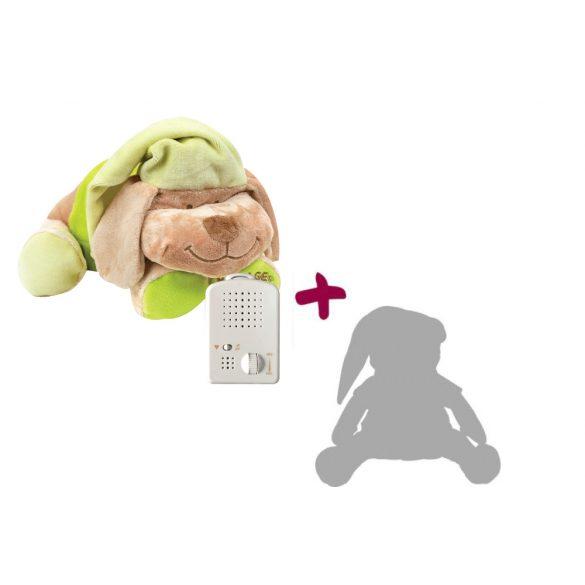 Doodoo zöld kutya + tartalék plüss a csomagban
