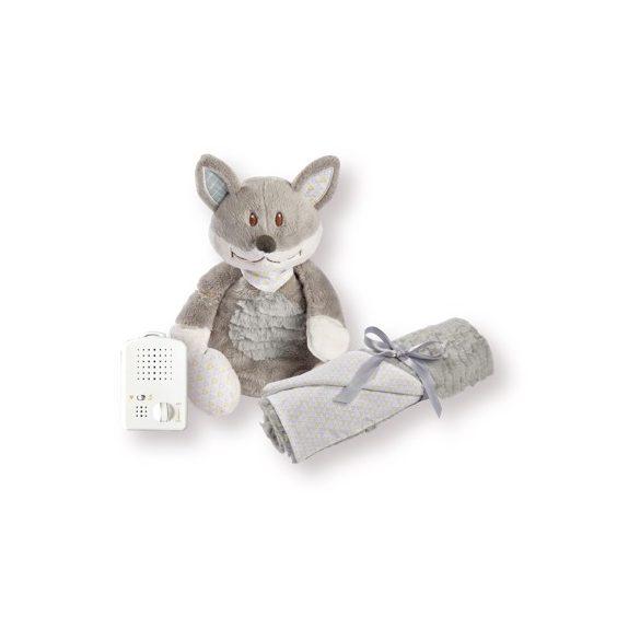 Doodoo Foxy + baby blanket in the package