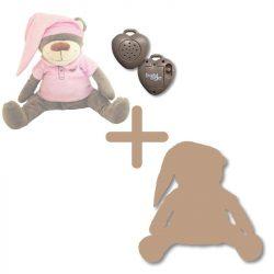 Doodoo szünetmentes audió + rózsaszín maci + tartalék plüss